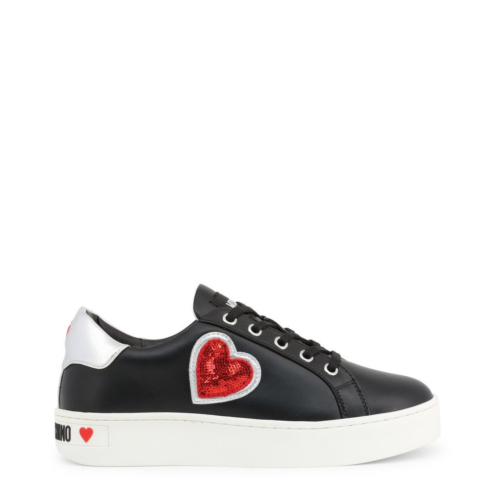 White Shoes leather trainers sneakers | Love Moschino