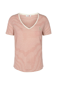 Kenia Glam Stripe V neck Topper