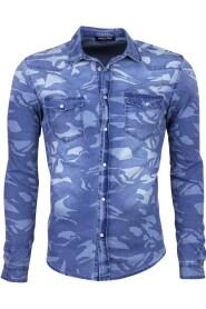 Denim Overhemd - Slim Fit Army Print