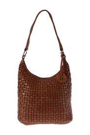 braided leather shoulder bag