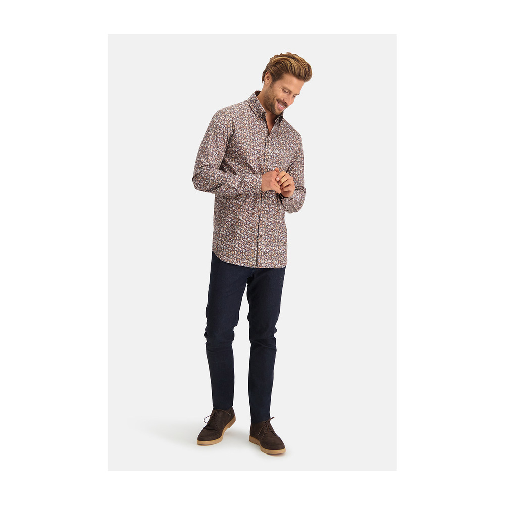 Brown shirt | State of Art | Zakelijke Overhemden | Herenkleding