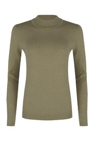 SWEATER BASIC CURL NECK
