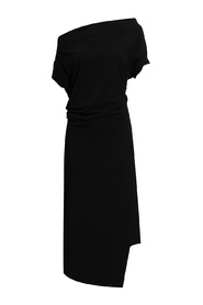Dress with loose neck