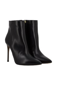 Stiletto heel leather ankle boots