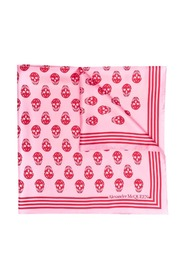 Scarf with pink skull