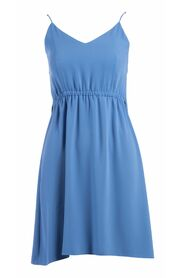 DRESS WITH RUFFLED STRAPS WITH WAIST