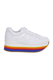 Maxi h222 leather sneaker with rainbow sole