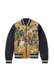 Reversible Shell and Printed Bomber Jacket