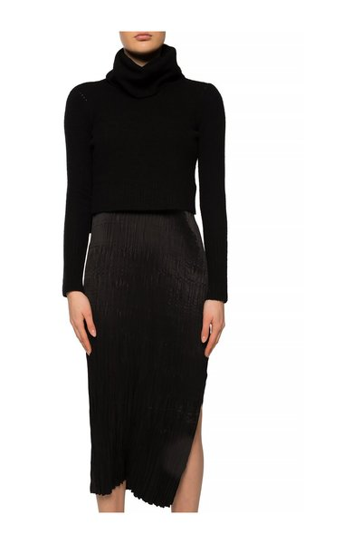 Black Slip Dress And Turtleneck Sweater Set Allsaints Hverdagskjoler