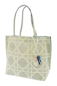 Cannage Perforated Leather Tote Bag