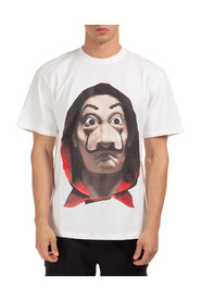 Short sleeve t-shirt crew neckline dali mask