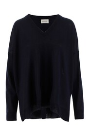 Sweater V-neck Long sleeves Dropped shoulders