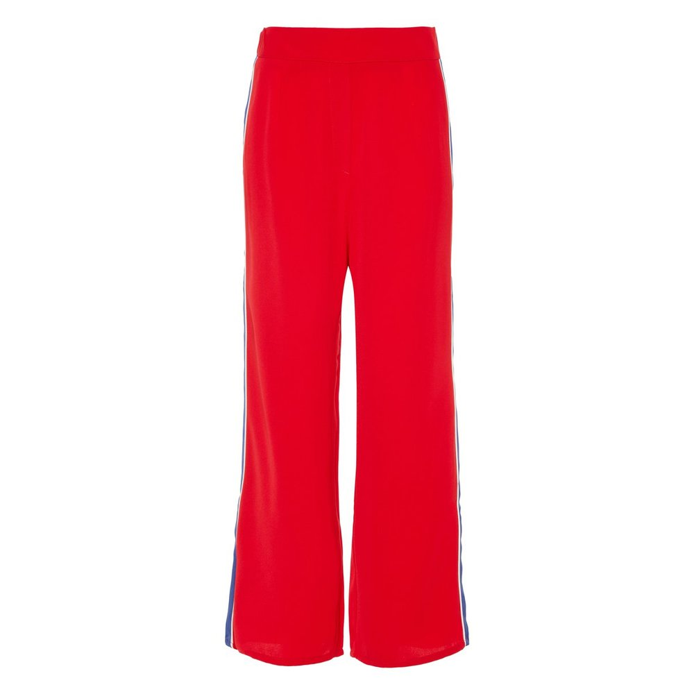 Wide-leg trousers panel stripe
