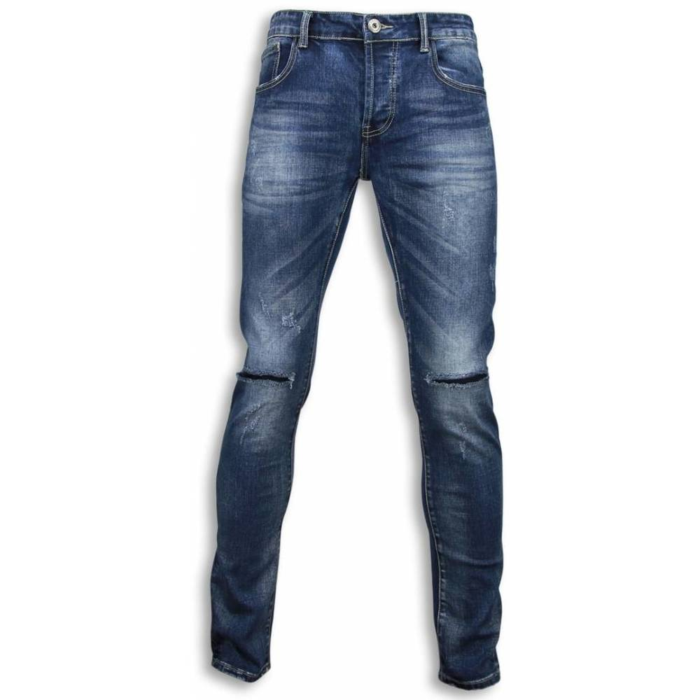 Damaged Knee Regular Fit Jeans