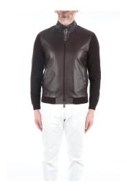 ELVIS-KNIT Leather jacket