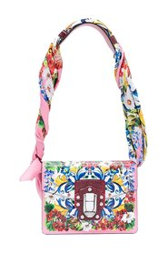 Lucia shoulder bag with silk scarf