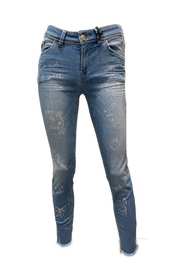 Sinty cut out Jeans