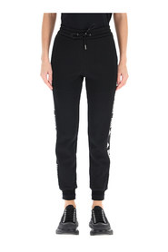 jogger trousers with jacquard logo