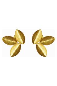 Three Tiny Leaf Earrings