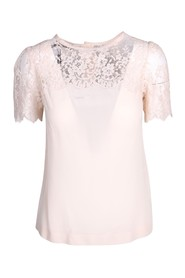 Pastel Pink Lace Top