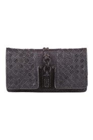 Intrecciato Lizard Leather Clutch Bag