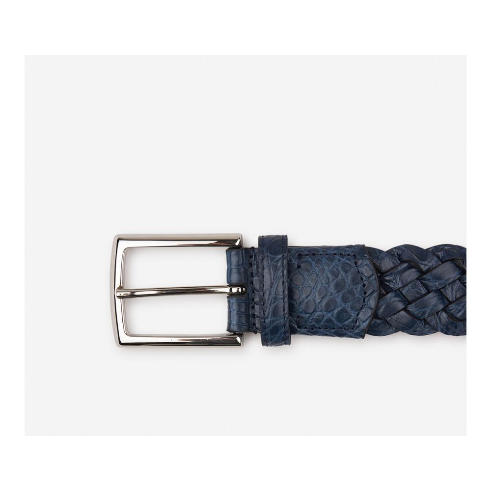 MIDNIGHT BLUE Braided belt   Santa Eulalia   Riemen   Heren accessoires