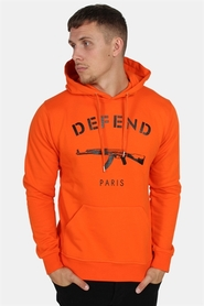 Defend Paris Capuche Hoodie Orange/Black