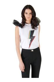 T-shirt mood rock con volant