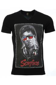 T-shirt - Scarface Headphone Print