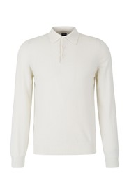Jumper with polo neck
