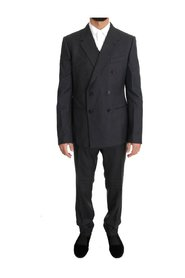 Wool Silk Double Breasted Slim Suit