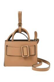 Bobby Charm Bag With Strap in Leather