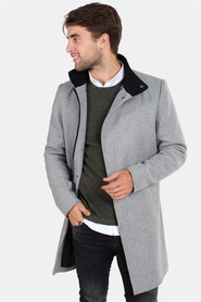 Only & Sons Oscar Wool Frakke Light Grey Melange