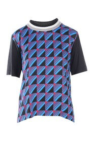 Printed Top With Elastic Collar -Pre Owned Condition