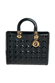 Brukte Cannage Patent Leather Tote