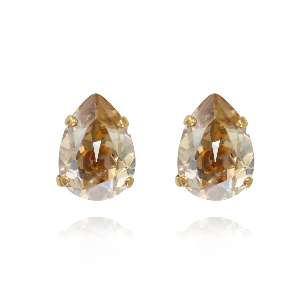 Caroline Svedbom Mini Drop Stud Earring - Golden shadow