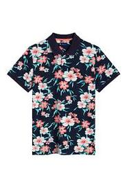 All Over Floral Pique Ss Rugger T-Shirt