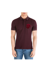 men's short sleeve t-shirt polo collar slim fit