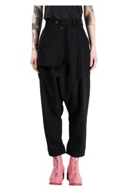 Asymmetric Flap Trousers