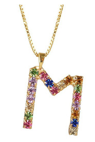 M Letter Necklace