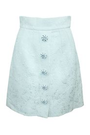 Ivory Brocade with Crystal Button Accent Skirt