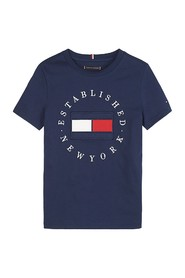 TOMMY HILFIGER KB0KB05718 FLAG TEE T SHIRT AND TANK Unisex Boys NAVY