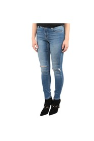 Skinny Mid Rise Ankle Jeans