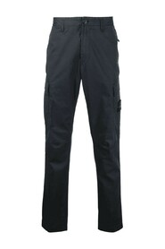 Stretch Broken Twill Cotton 'Old' Effect Slim Fit Cargo Pants