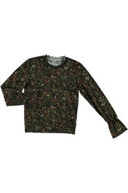 Top leaves&flowers smock neck&cuffs