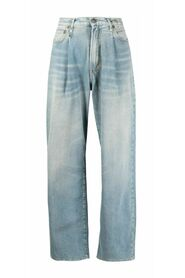 Damon pleated jeans with wide leg