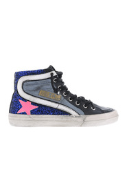 Horsy Glitter Leather Star Sneakers