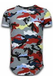 Known Camouflage T-shirt - Long Fit Shirt Army