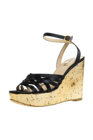 Pre-owned Ankle Strap Wedge Sandals