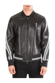 leather outerwear jacket blouson rap-nox slim